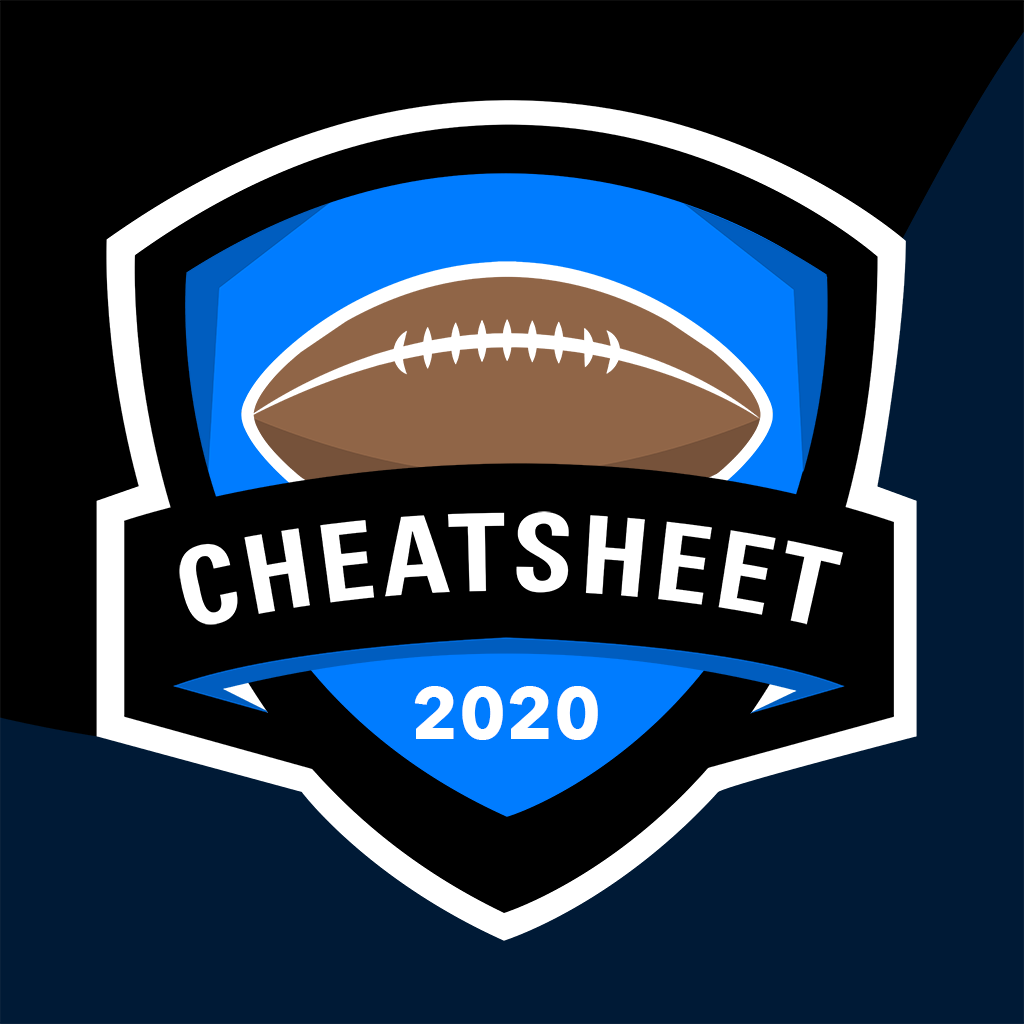 It is a picture of Printable Fantasy Football Cheat Sheets for american football